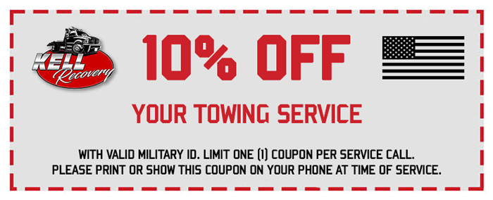 10% Off Military Towing